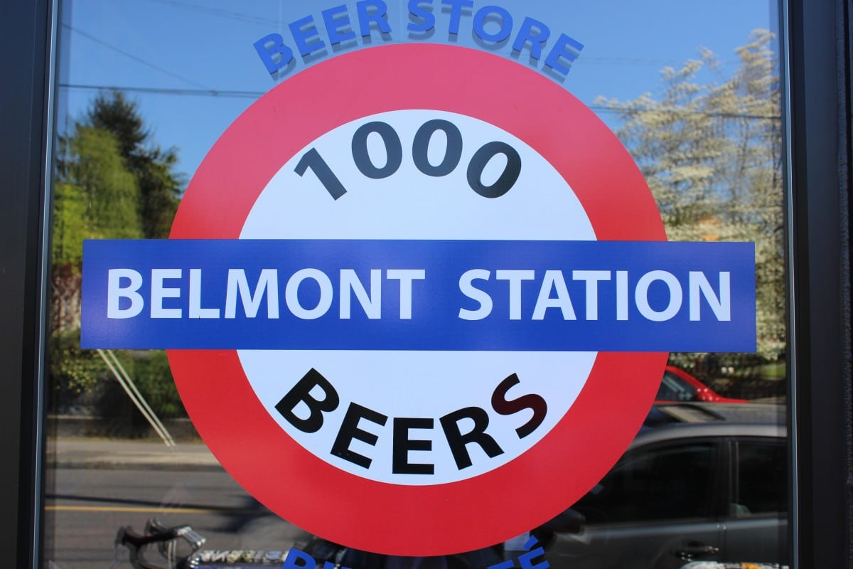 Beer Shopping Belmont Station