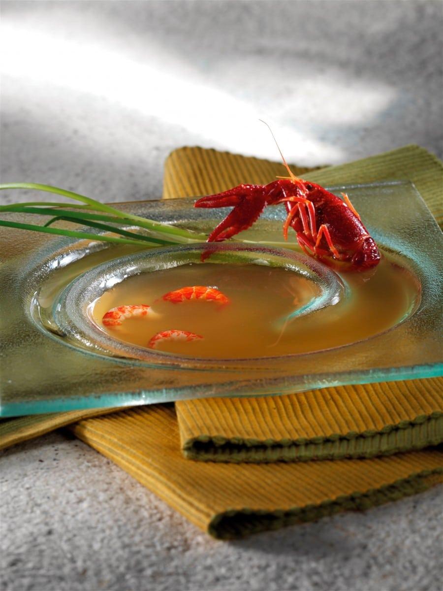 Foodpairing consommé d'écrevisses - consommé van rivierkreeftjes