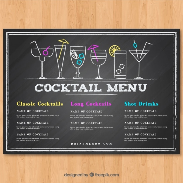 cocktail-menusjabloon-in-schoolbord-stijl_23-2147773869