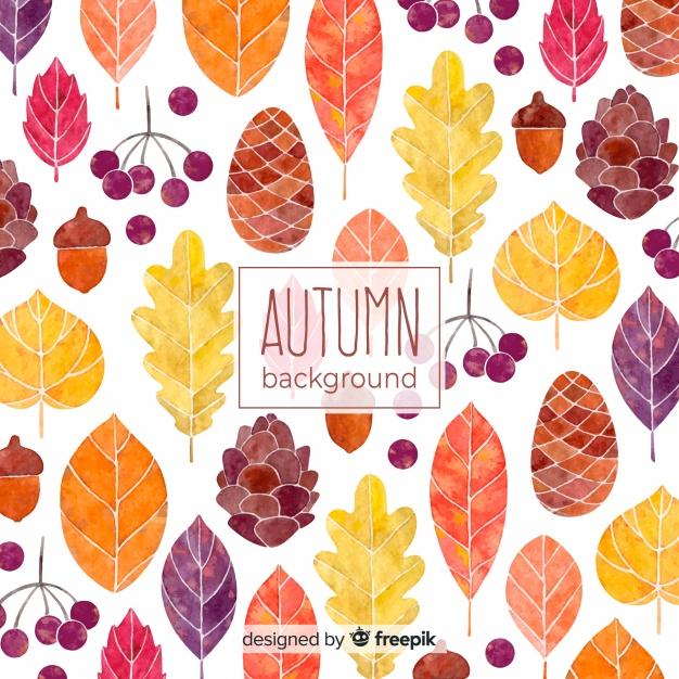 mooie-herfst-achtergrond-in-aquarel-stijl_23-2147906836
